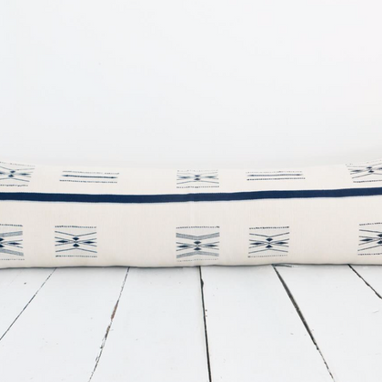 Karu Nagaland Lumbar Pillow in Ivory