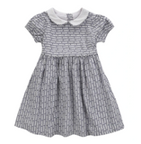 Little Cotton Clothes Martha Dress - Stripe Floral in Ink