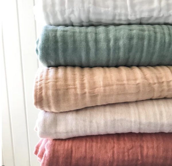Dove and Dovelet Organic Muslin Blankets