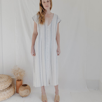 Esby Apparel Winnie Dress  - Riviera Stripe