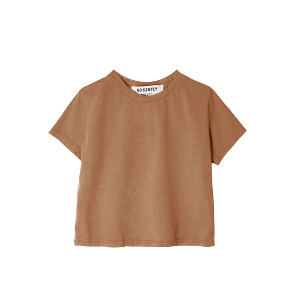 Go Gently Solid Tee in Tanin