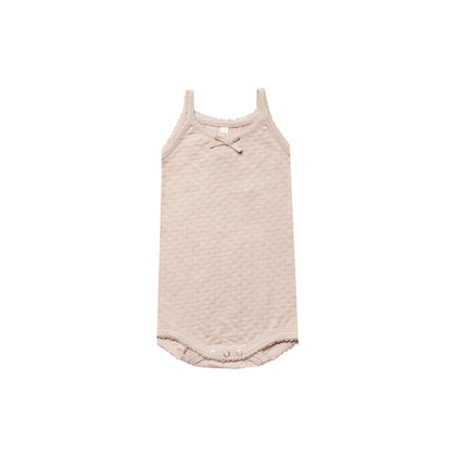 Quincy Mae Pointelle Tank Onesie in Rose
