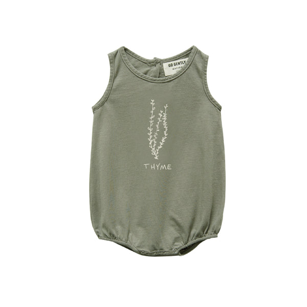 Go Gently Thyme Jersey Onesie