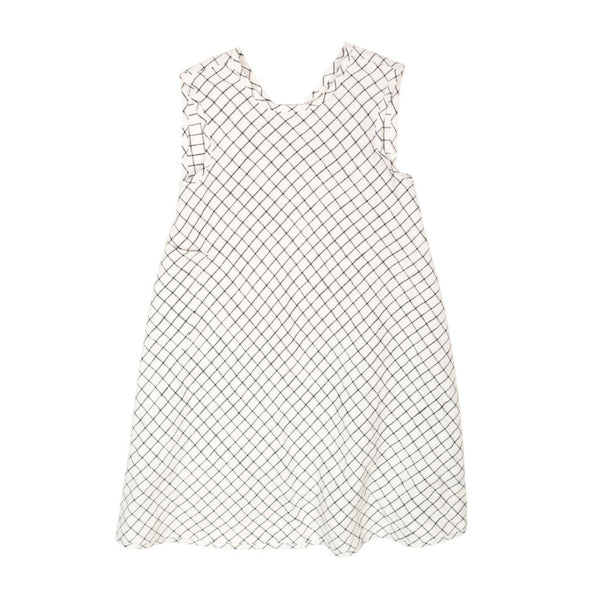 Soor Ploom Willow Dress in Graph Paper