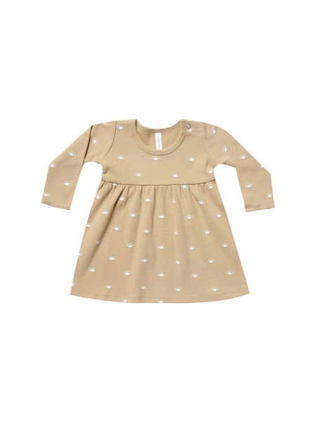 Quincy Mae LS Baby Dress in Honey