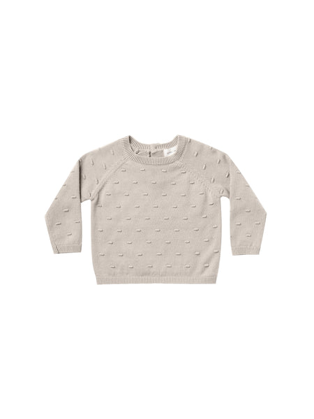 Quincy Mae Bailey Knit Sweater in Fog