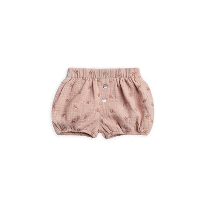 Rylee & Cru Leaf Emb Button Short