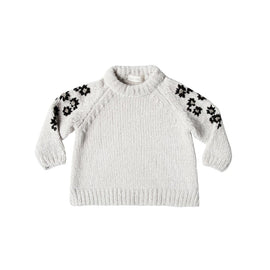 Rylee & Cru Floral Embroidered Chenille Sweater