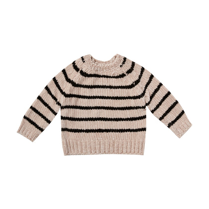 Rylee & Cru Striped Chenille Sweater