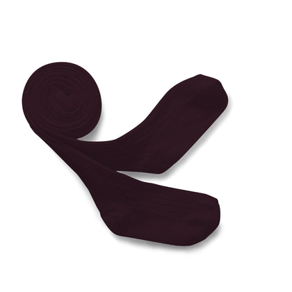 Collegien Ribbed Tights - Aubergine