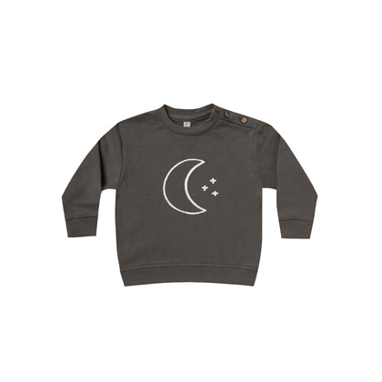 Quincy Mae Fleece Sweatshirt in Coal