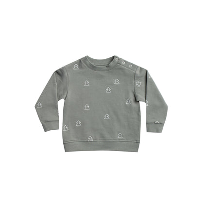 Quincy Mae Fleece Sweatshirt in Eucalyptus
