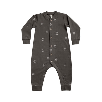Quincy Mae Fleece Jumpsuit in Coal