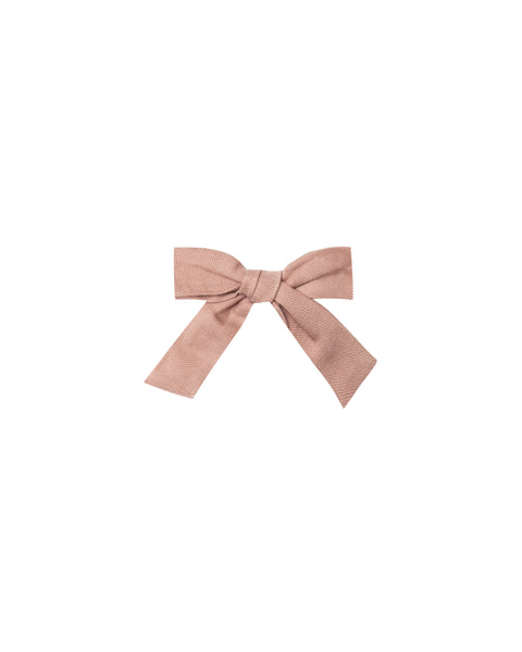 Rylee & Cru Girl Bow with Clip in Truffle