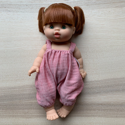 Minikane Gabrielle Doll with Rose Overalls