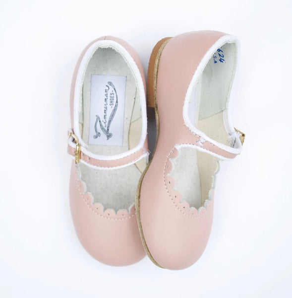 Zimmerman Scalloped Mary Janes in Pink