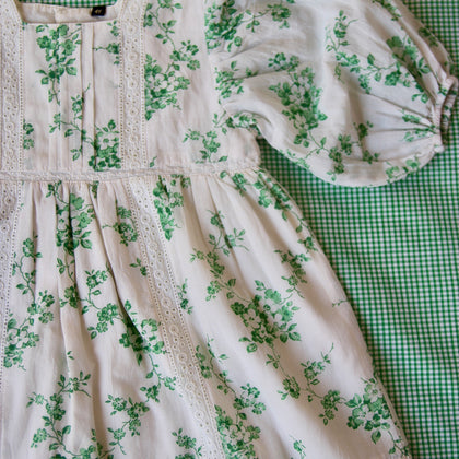 Bonjour Diary Memory Dress in Green Floral