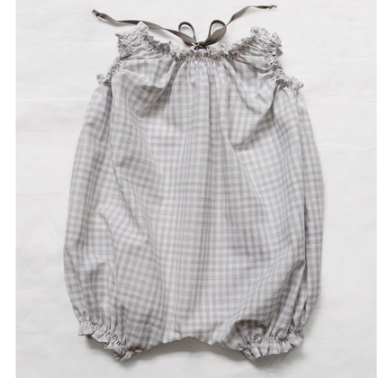 Makie Gray Gingham Balloon Onesie