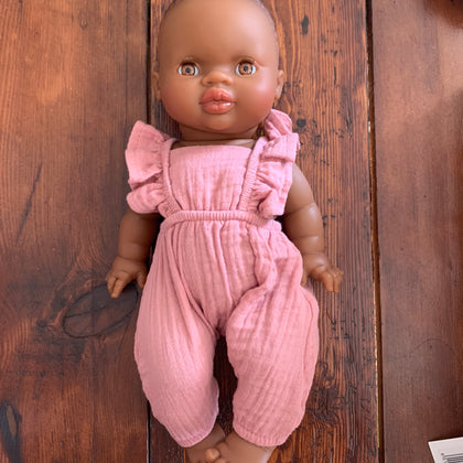 Minikane Black Baby Girl Doll with Romper