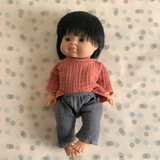 Minikane Asian Boy Baby Doll in Top and Pants