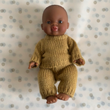 Minikane Black Boy Doll with Knit Outfit
