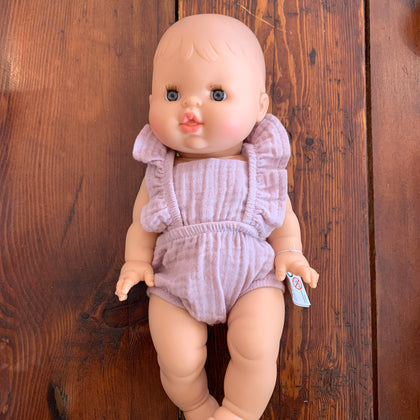 Minikane Baby Girl Doll with Romper