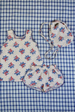 Bonjour Diary Top and Short Set with Red, Blue Floral
