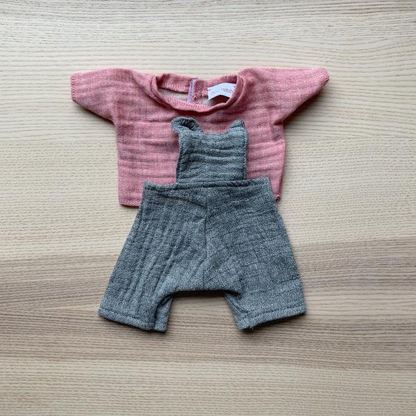 Minikane Baby Overalls and Pink Top