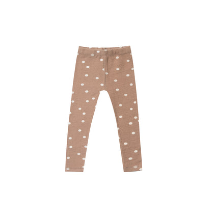 Rylee & Cru Dot Knit Legging in Truffle
