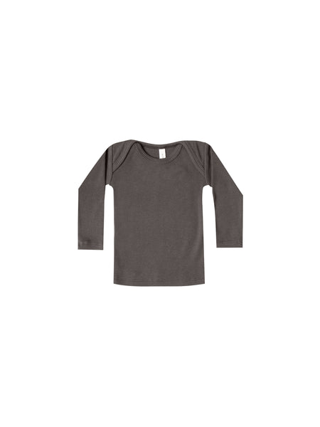 Quincy Mae Ribbed Longsleeve Tee in Coal