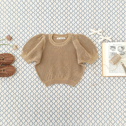 Soor Ploom Mimi Knit Top in Chai