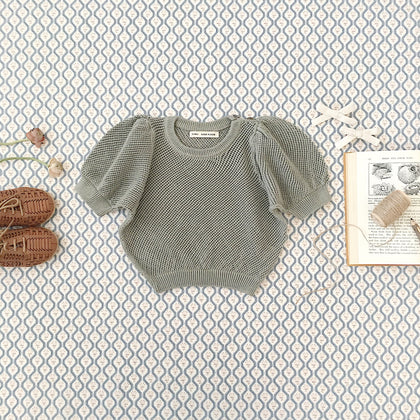 Soor Ploom Mimi Knit Top in Mist
