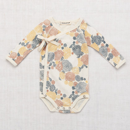 Misha & Puff Chrysanthemum Cross Over Onesie
