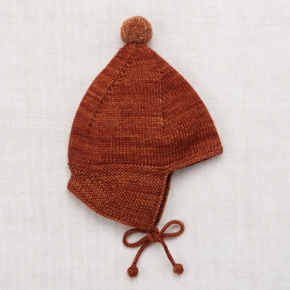 Misha & Puff Pointy Peak Hat in Terracotta