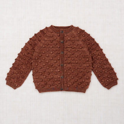 Misha & Puff Popcorn Cardigan in Chestnut