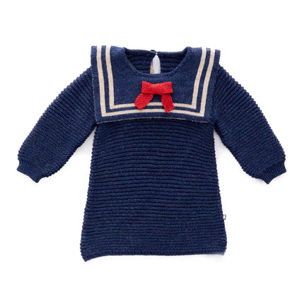 Oeuf Sailor Dress in Navy