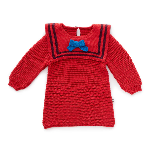 Oeuf Sailor Dress in Red