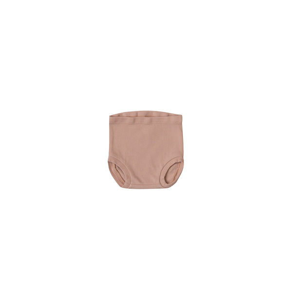 Quincy Mae Organic Ribbed Bloomer in Rose