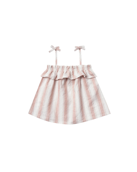 Rylee & Cru Ruffle Top in Stripe