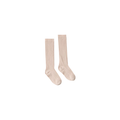 Rylee & Cru Knee Socks in Blush