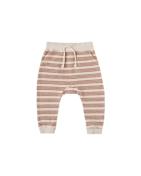 Rylee & Cru Terry Sweatpant in Amber Stripe