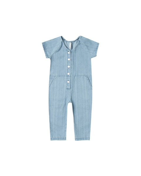 Rylee & Cru Utility Jumpsuit in Washed Denim