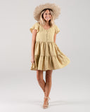 Rylee & Cru Eyelet Dolly Dress in Citron