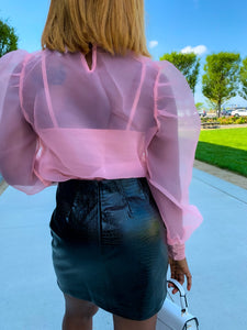 Organza Me Please Long Sleeves Top
