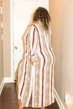 Load image into Gallery viewer, Plus Multi Stripe Long Sleeve Maxi Blouse