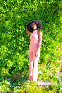 Sleeveless Rose Jumpsuit