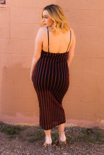 Load image into Gallery viewer, Striped Spaghetti Strap Dress
