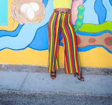 Load image into Gallery viewer, High Waist Striped Plazo Pants