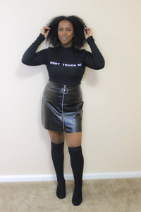 Mini By Mini Leather Skirt