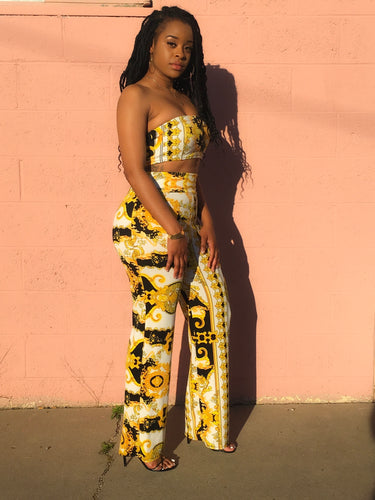 Bandeau + Super High Waisted Trouser Co-Ord